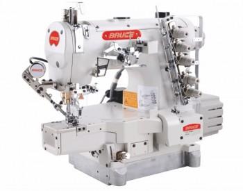 Máy trần đè đầu túm 3 kim 5 chỉ điện tử, cắt chỉ và nâng chân vịt bằng điện BRC-664BD2-01GBx356/UT
